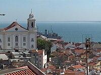 Igreja de Santo Estêvão, seen from the Miradouro S. Luzia, Lisbon, Portugal.jpg