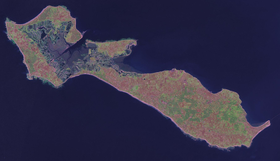 Foto satellitare dell'Isola di Ré (NASA).