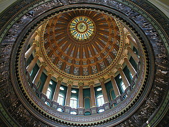Illinois State Capitol - Detail of the dome interior