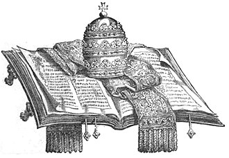 Ultramontanism - 1881 illustration depicting papal infallibility
