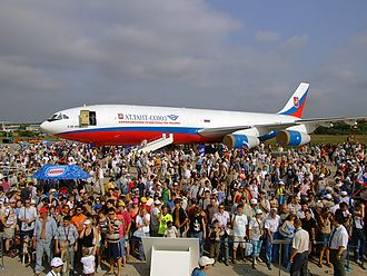 Ilyushin Il-96 - Il-96T in Atlant-Soyuz Airlines livery at the MAKS Airshow, August 2007