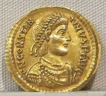 Impero d'occidente, costantino III, emissione aurea, 407-411, 01.JPG