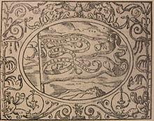 Impresa di Francesco Sforza, capitano generale della cavalleria pontificia (1548).