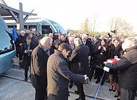 Inauguration de la branche vers Vieux-Condé de la ligne B du tramway de Valenciennes le 13 décembre 2013 (083).JPG