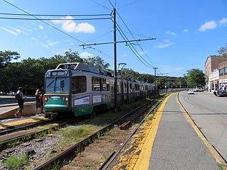 Packards Corner station Light rail station in Boston, Massachusetts