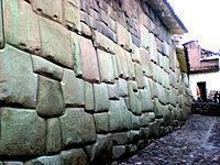 Los muros incas son perfectamente ensamblados.