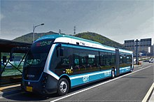 Incheon Bus 701 Woojin Industrial Systems Bi-modality Tram.JPG