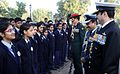 Indian Armed Forces services chiefs interacting with students on Navy Day 2014.jpg
