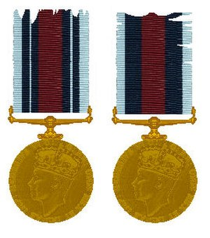 Indian Police Service - Indian Police Medal issued in 1940.