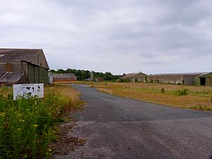 Llanfaes Friary - Northern end of the friary site, showing now derelict engineering sheds.