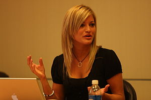 English: Justine Ezarik at the Intel insider e...
