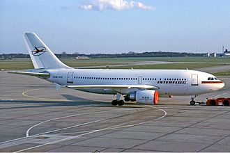 Airbus A310 - In 1988 the A310 was delivered to Interflug:  the first Airbus to be delivered to an Eastern-bloc airline.