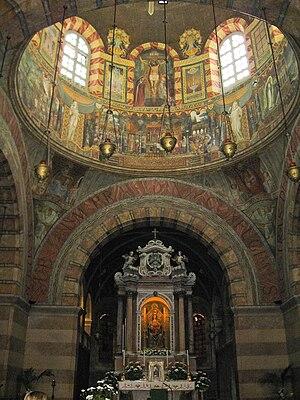 Barbana, Italy -  Interior of Barbana Church.
