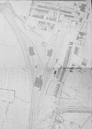 Ipswich engine shed - Map showing layout in 1883.