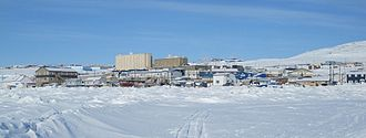 Iqaluit - Skyline of Downtown, the central business district of Iqaluit.