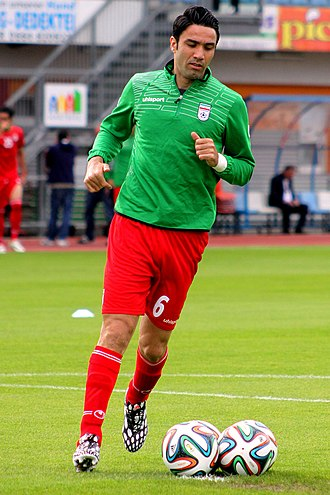 Javad Nekounam - Nekounam before a friendly with Montenegro in 2014