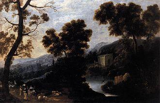 Ignacio de Iriarte - Landscape with Figures   (c. 1660)