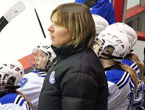 Montreal Carabins women's ice hockey - Head coach Isabelle Leclaire
