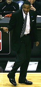 Isiah Thomas nel 2007, durante una partita dei New York Knicks