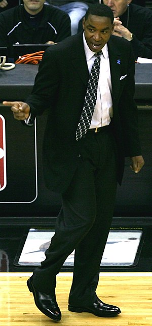 Isiah Thomas - Isiah Thomas coaching the New York Knicks