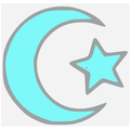 Islamic star and crescent blue.PNG
