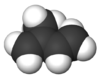 Space-filling model of isoprene