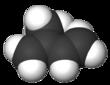 Space-filling model of isoprene