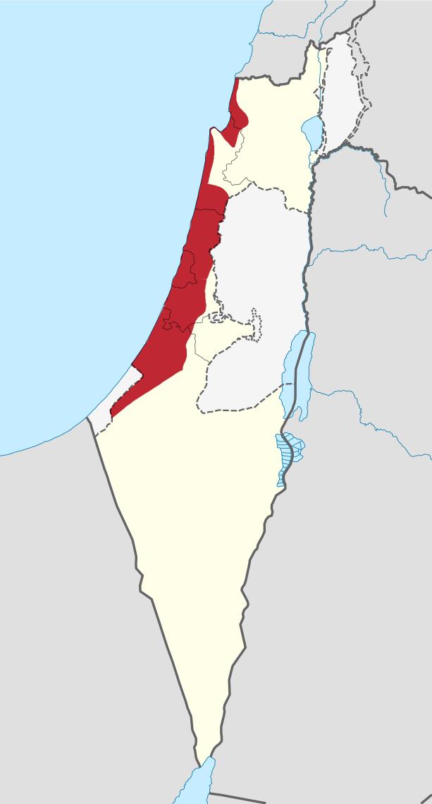 Israeli Coastal Plain region in Israel