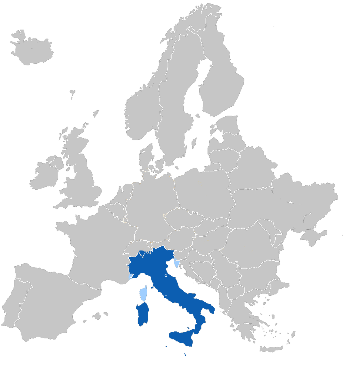 Simple Map Of Italy.Italian Language Simple English Wikipedia The Free Encyclopedia