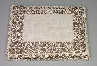 Needlepoint (Reticella) and Bobbin Lace Pillow Case (1933.361)