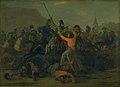 Jørgen V. Sonne - Oberst Boncke Bönnichsens fald den 6. december 1813 under en fægtning mellem jyske dragoner og kosakker - KMS793 - Statens Museum for Kunst.jpg