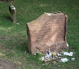 Yaakov ben Moshe Levi Moelin - Grave of Yaakov ben Moshe Levi Moelin in Worms, Germany