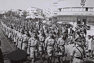 Haganah - Marching Jewish troops in the British army (1942)