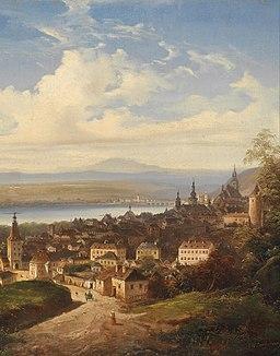 J Wilhelm Jankowsky Blick auf Krems