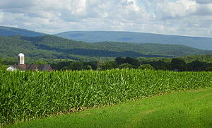 Huntingdon County, Pennsylvania - Image: Jacks Mountain as viewed from Shirleysburg, Pennsylvania