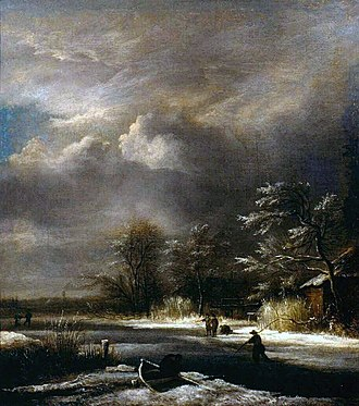 Winter Landscape near Haarlem - Image: Jacob van Ruisdael Winter Landscape with Skaters