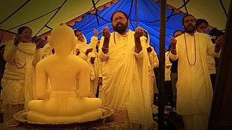Himalayas - Jain pilgrims paying obeisance to Tirthankar Rishabhdev near Mount Kailash.