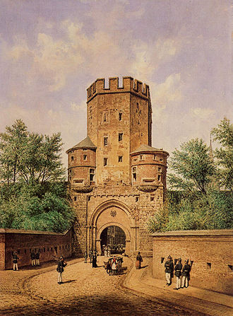 Fortified gateway - The Severin Gate in Cologne