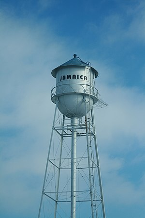 Jamaica, Iowa - City water tower