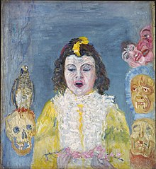 Girl with Masks (Communion)