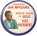 James McClure Idaho Senator campaign button.jpg