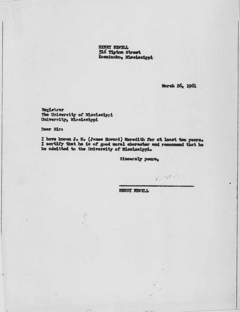 Letter Of Recommendation On File