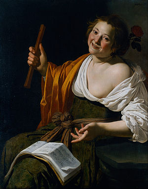 Jan van Bijlert - Image: Jan van Bijlert Girl with a flute Google Art Project