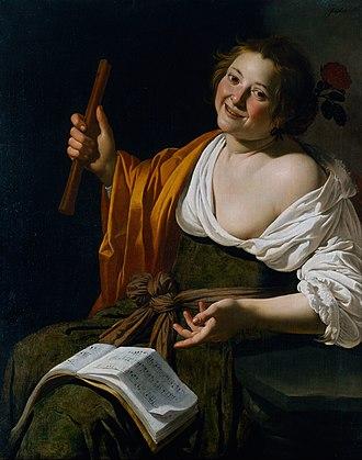 Jan van Bijlert - Image: Jan van Bijlert Girl with a flute Google Art Project
