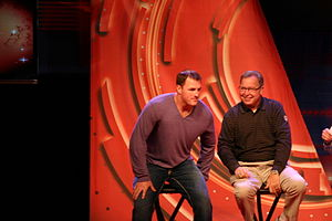 Jason Witten and Ron Jaworski at Inside ESPN N...