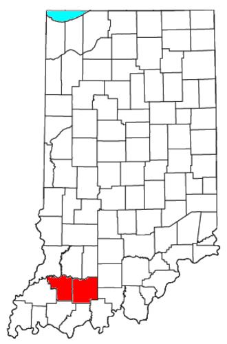 Jasper, Indiana - Location of the Jasper Micropolitan Statistical Area in Indiana