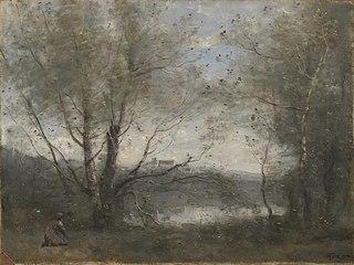 A Pond Seen through theTree