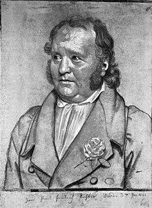 Jean Paul, porträtiert von Vogel von Vogelstein 1822 (Quelle: Wikimedia)