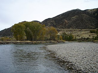 Jefferson River - Jefferson River near Parrot Castle, October 2007