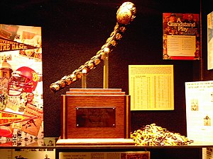 Notre Dame–USC football rivalry - The First Jeweled Shillelagh, awarded to the winner of the annual USC vs. Notre Dame game.